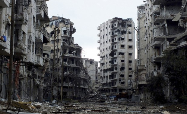 Devastation in Jouret al-Shayah, Homs. Photo Credit: REUTERS/Yazen Homsy.